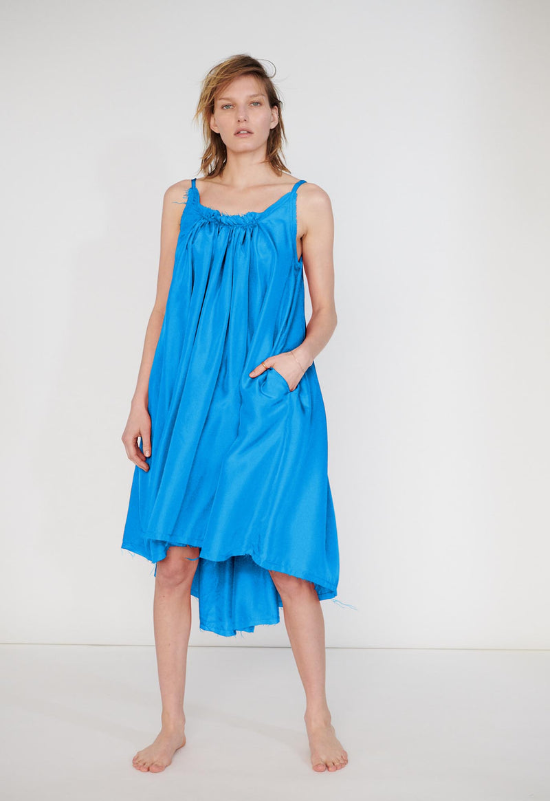Gather Shortie Dress in Silk