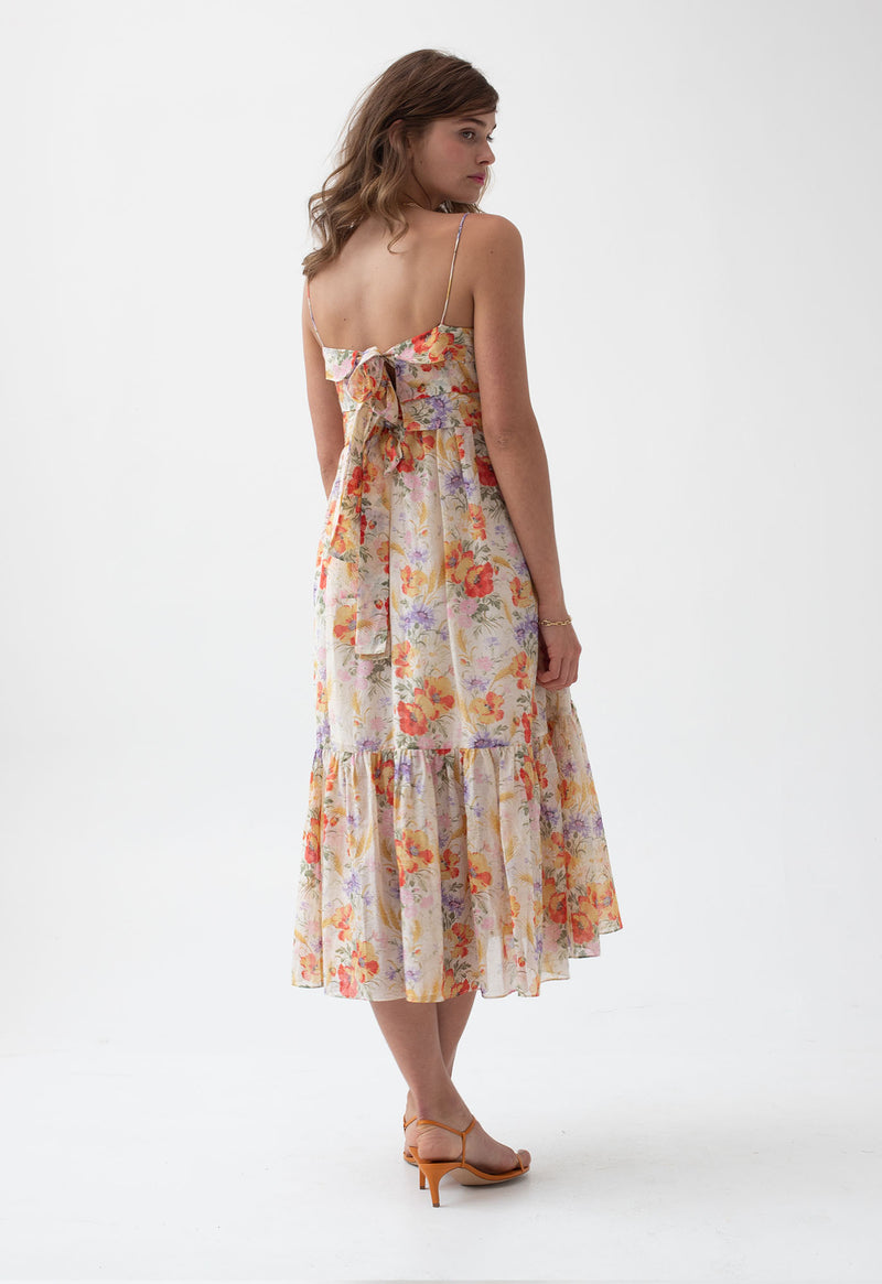 Iliana Pleated Sundress in Tuscan Floral
