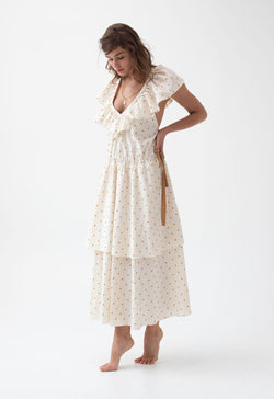 Kalamé Dress in Golden Dot