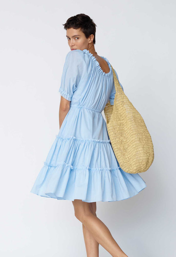 Kassos Dress in Baby Blue