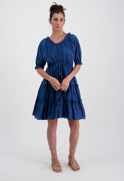 Kassos Dress in Indigo