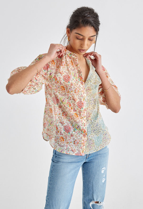 Pico Blouse in Abigail Mixed Liberty Print