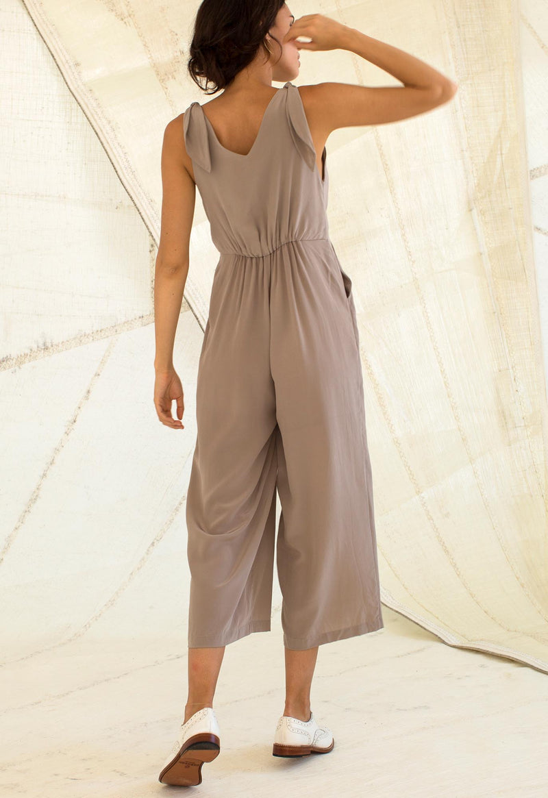 Lookout Jumpsuit in Black Silk