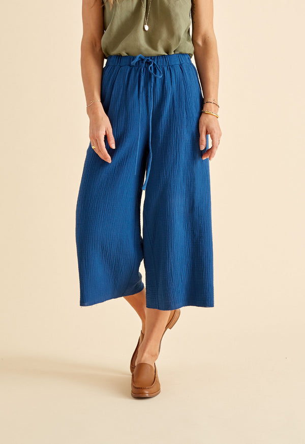 Marsh Pant in Indigo Gauze