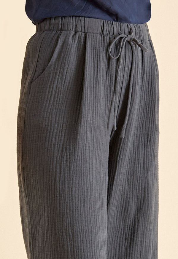 Marsh Pant in Thunder Gauze