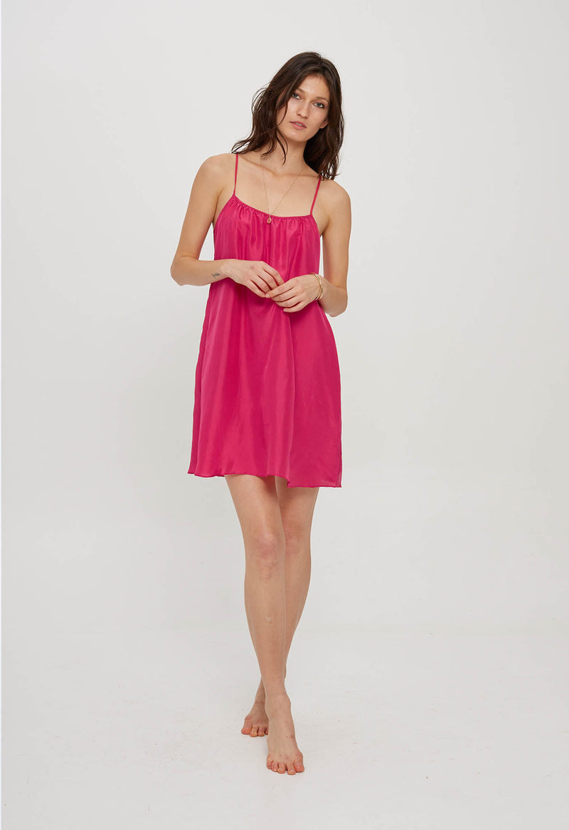Silk Mini Slip in Vivid Colors