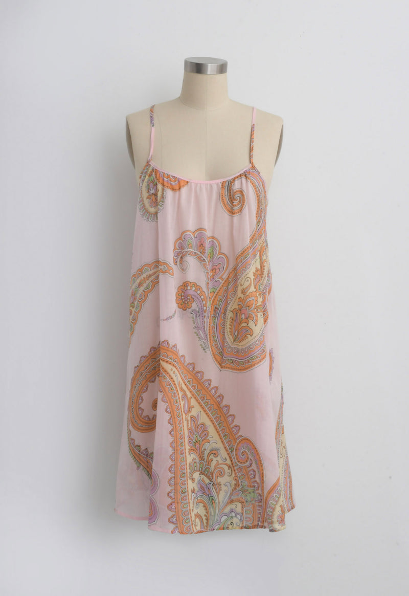 Mini Slip in Cotton Paisley