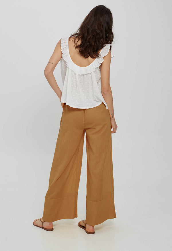 Olympia Palazzo Pant in Organic Cotton Gauze