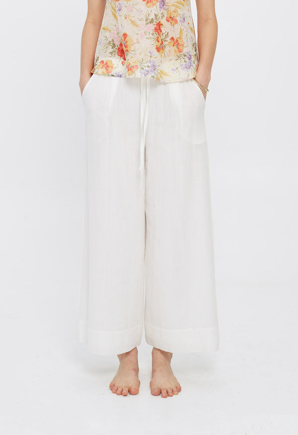 Olympia Palazzo Pant in Lace Jacquard