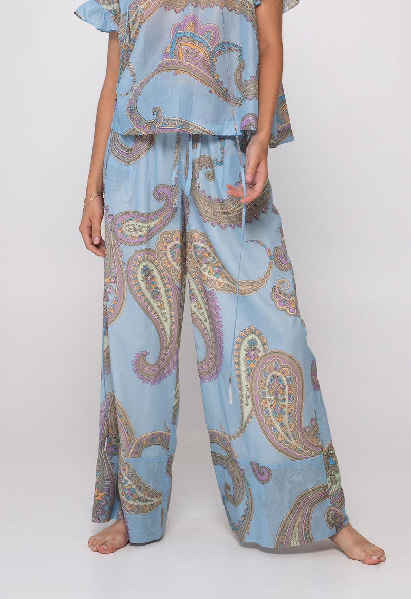 Olympia Palazzo Pant in Paisley