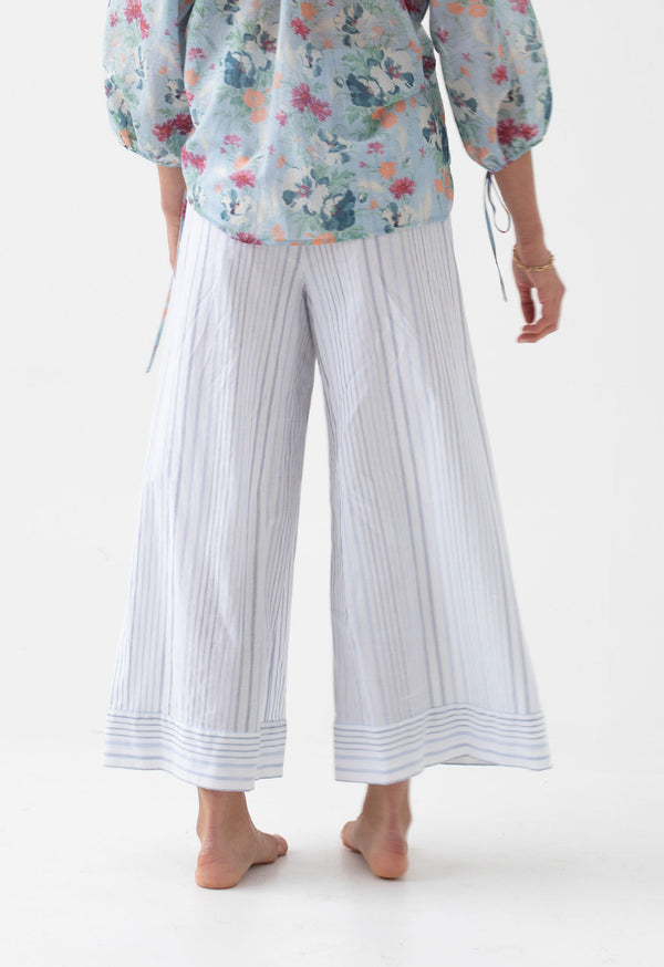 Olympia Palazzo Pant in Seaside Stripes