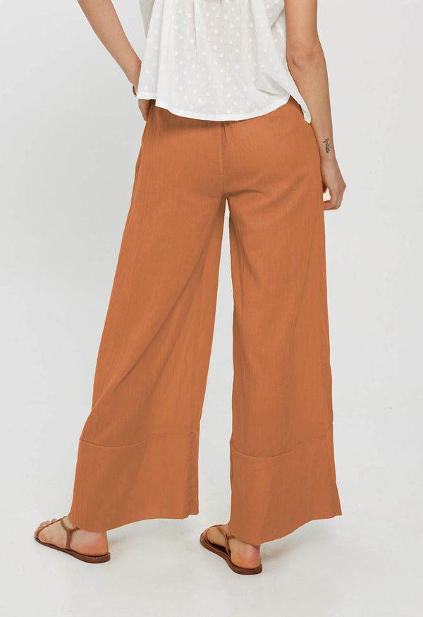 Olympia Palazzo Pant in Terracotta