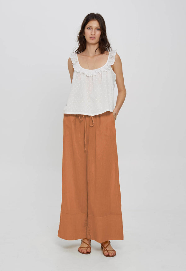 Olympia Palazzo Pant in Organic Cotton