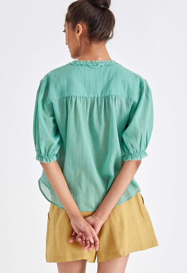 Pico Blouse in Arsenic