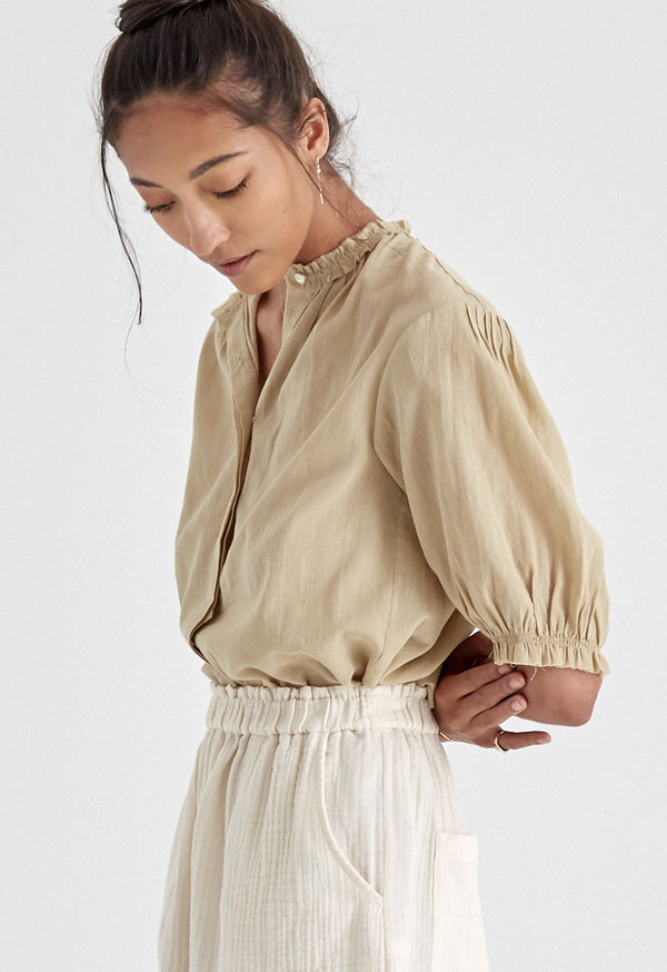 Pico Blouse in Khaki