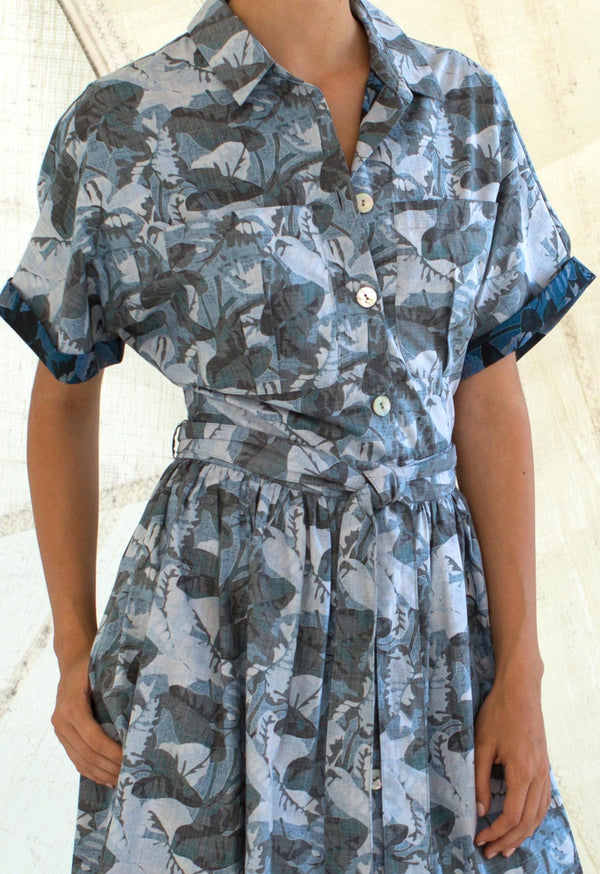 Pamlico Shirtdress in Poplin Print