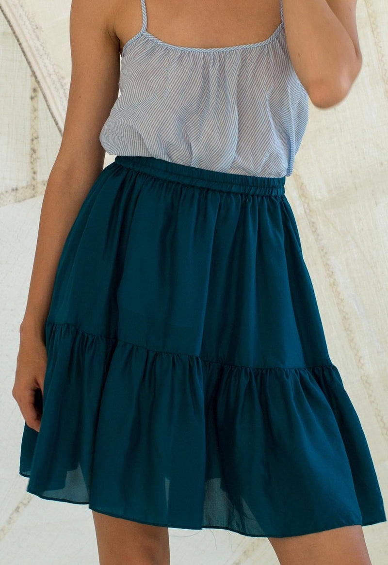 Pomona Silk Skirt