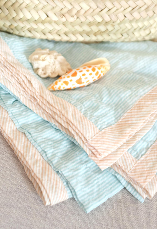 *SALE* Pareo Wrap Blanket in Pastel Stripes