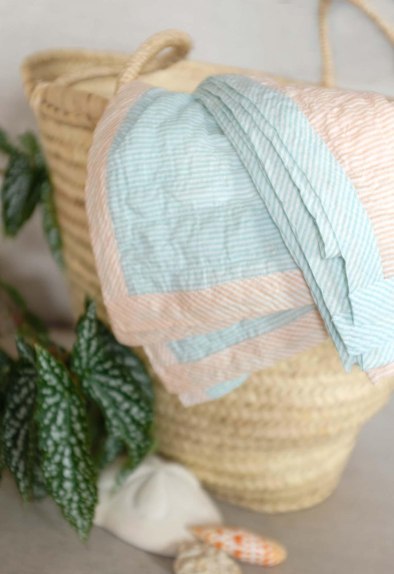 Pareo Wrap Blanket in Pastel Stripes