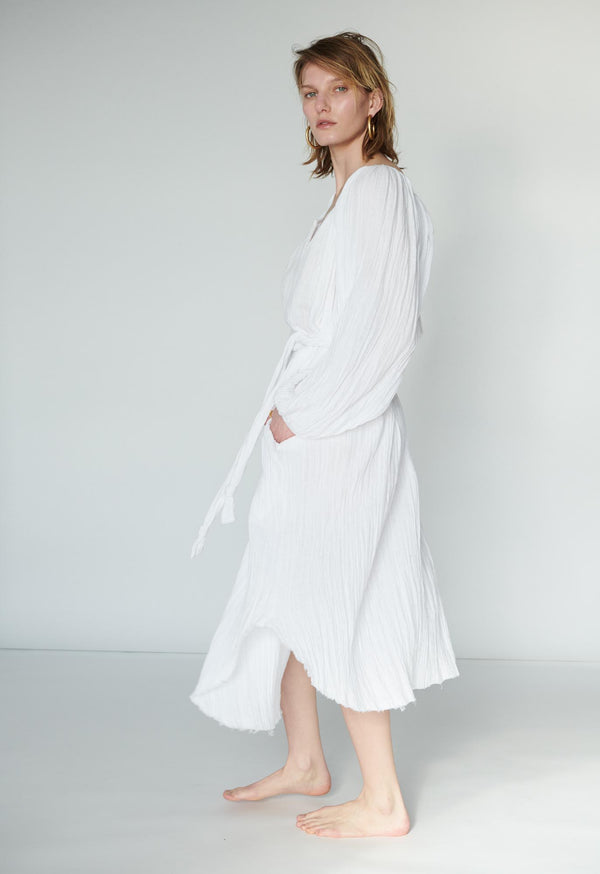 Peasant Tunic Midi in Soft Gauze