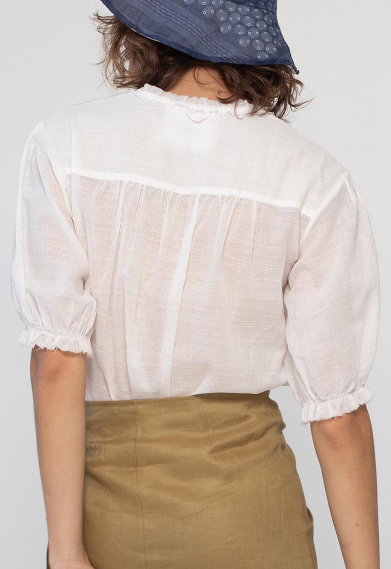 Pico Blouse in Lace Jacquard