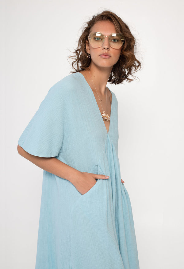 Riva Kaftan in Powder Blue