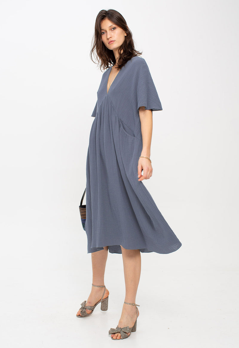 Riva Kaftan in Slate Blue