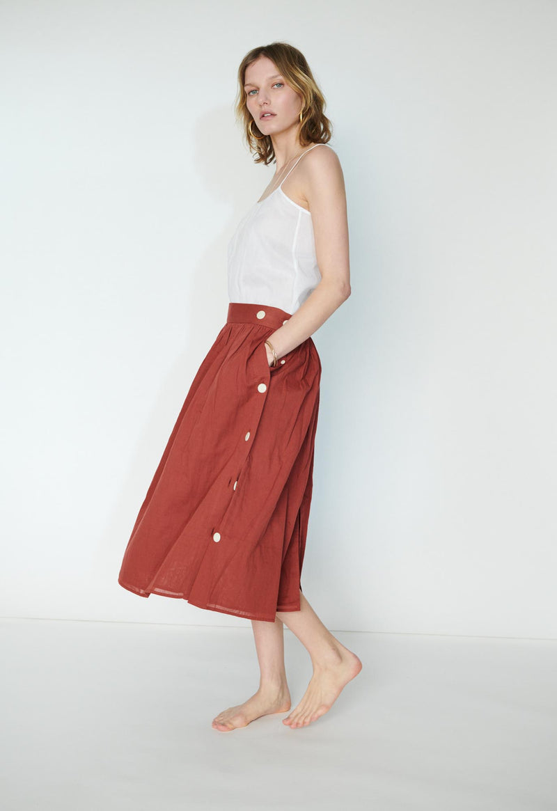 *SALE* Side Button Skirt