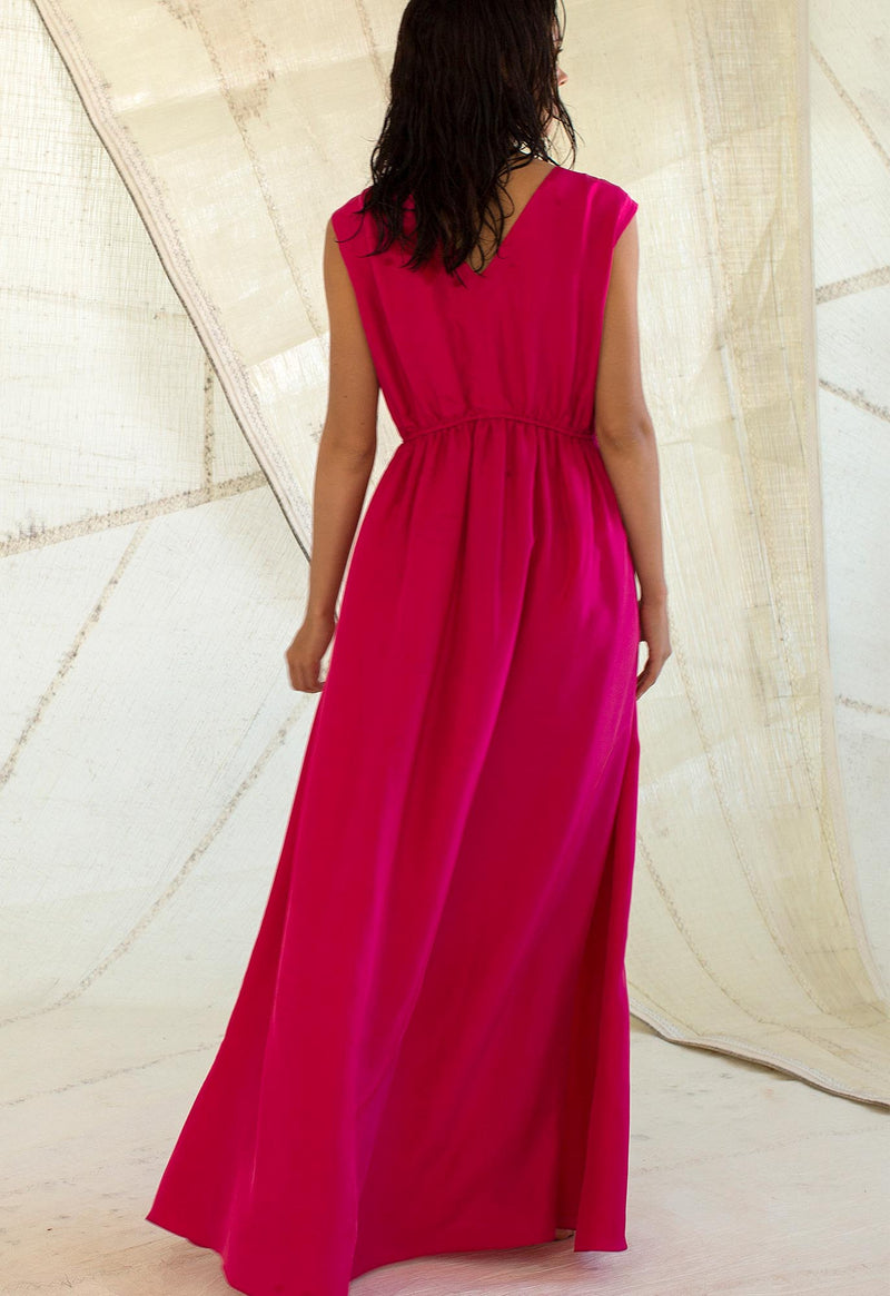 Sirena Gown in Peony Silk