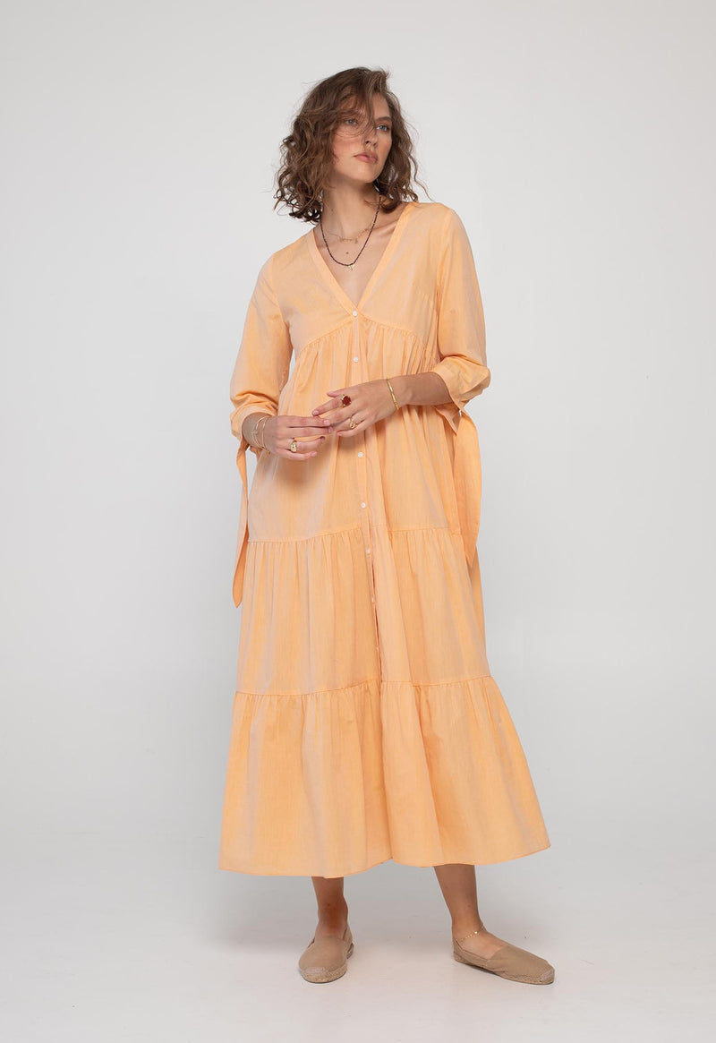 Tonino Dress in Lightweight Poplin