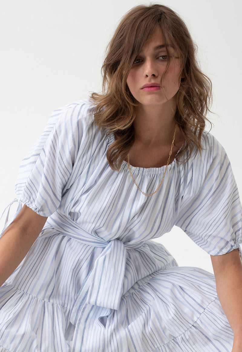 Vera Dress in Seaside Stripes