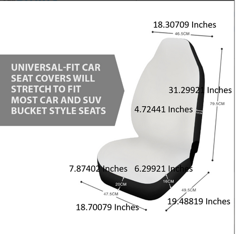 Each Pair Of Car Cover Seats Is Custom Made Please Allow 2 Weeks For Production And Delivery