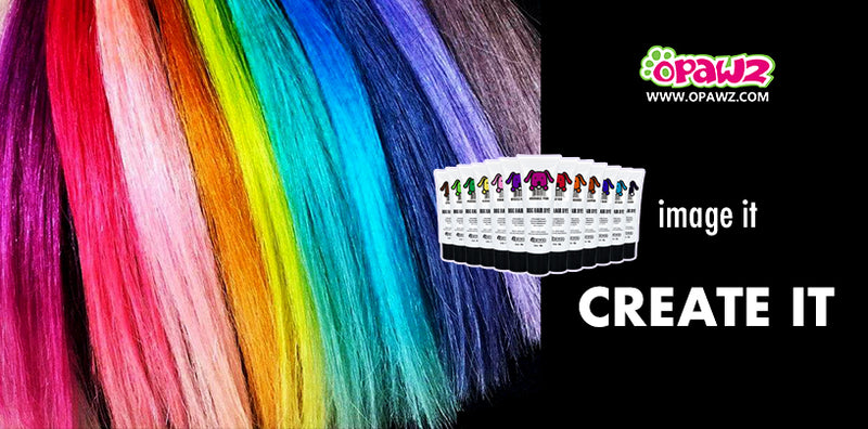OPAWZ Permanent Pet Hair Dye Color Mixing Guide