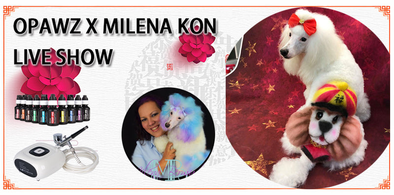 Chinese New Year Theme Design with OPAWZ Airbrush Machine - Milena Kon Live Show [Video]