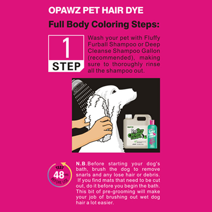 Full Body Coloring Steps with OPAWZ Dog Hair Dye