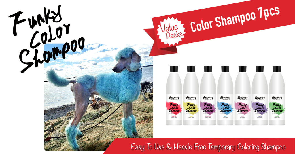 color shampoo for dog