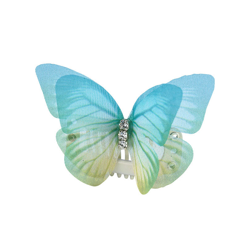 3D Organza Butterfly Wings with Crystal (2pcs) - A041
