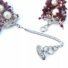 Dark Red Flower with Single Row Pearl Necklace/Collar - A086