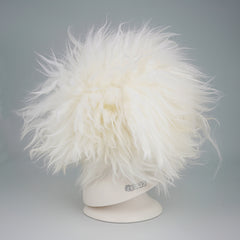 OPAWZ Teddybear Dyeable Head Dog Wig - White (DW06-5)