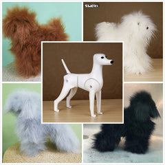 OPAWZ Toy Poodle Model Dog with 4 Colors Wig Value Pack (VP25)