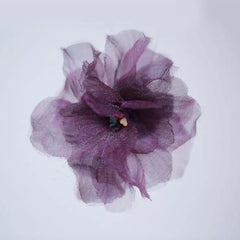 Purple Lace Flower Clip - B032
