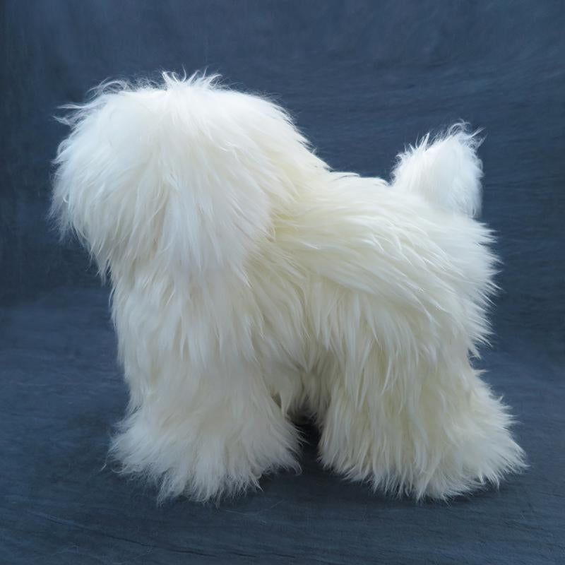 OPAWZ Toy Poodle Dyeable Whole Body Dog Wig - White (DW01-5)