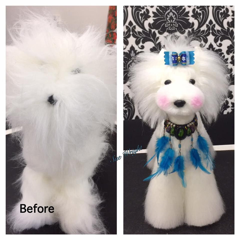 OPAWZ Toy Poodle Whole Body Dog Wig - White (DW01-1)