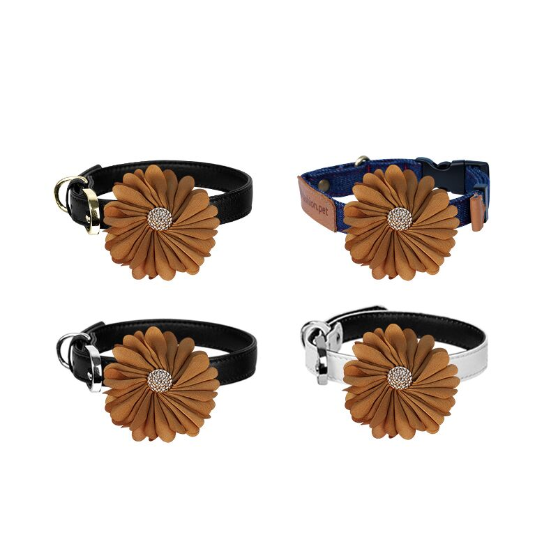 Flower Dog Collar Slider - A063-1