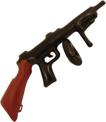 Inflatable fancy dress prop tommy gun