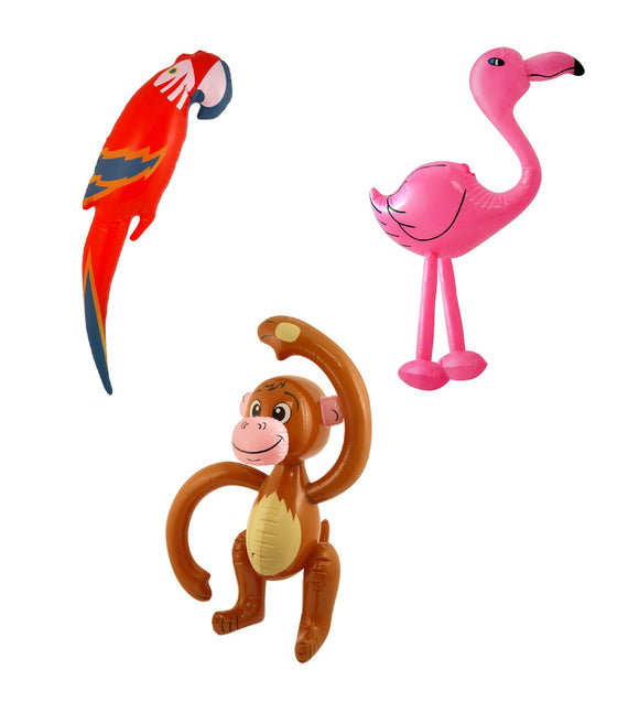 Inflatable Monkey Flamingo & Parrot Photo Booth Set
