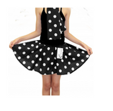 Children's 1950s Style Polka Dot Fancy Dress Skirts - black and white