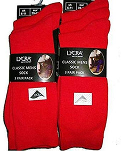 Size 6-11 red socks | 6 in a pack | everyday work wear