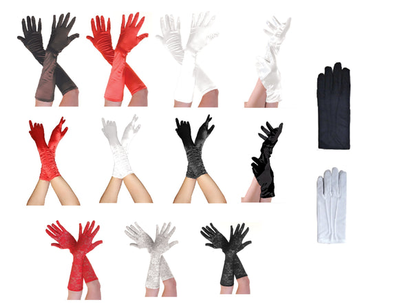 Assorted Fancy Dress Party Gloves