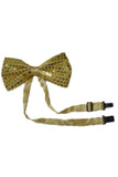 Las Vegas Performer Fancy Dress Gold Sequin Magician Costume Cabaret Showgirl Gold Bow Tie